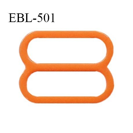 Réglette 19 mm de réglage de bretelle pour soutien gorge et maillot de bain en pvc orange prix à l'unité