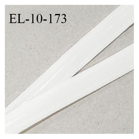 Elastique 10 mm anti-glisse haut de gamme couleur écru ou lys fabriqué en France prix au mètre