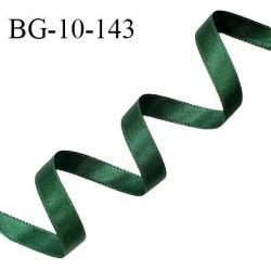 Galon ruban satin 10 mm couleur vert sapin brillant lumineux double face très solide largeur 10 mm prix au mètre