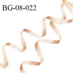 Galon ruban satin 8 mm couleur beige rosé brillant lumineux double face très solide largeur 8 mm prix au mètre