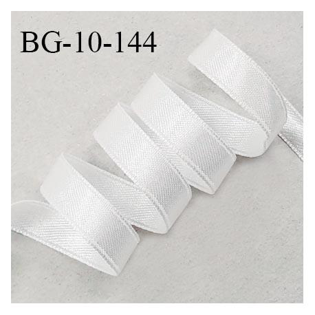 Galon ruban satin 10 mm 100% nylon couleur blanc brillant lumineux double face très solide largeur 10 mm prix au mètre