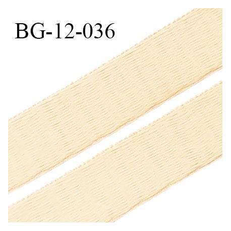 Devant bretelle 12 mm en polyamide attache bretelle rigide pour anneaux couleur beige écru haut de gamme prix au mètre