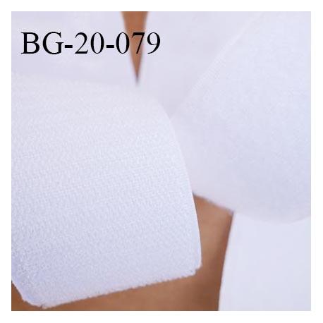 Scratch type velcro 20 mm à coudre couleur blanc largeur 20 mm prix au mètre pour les 2 faces velours et crochets