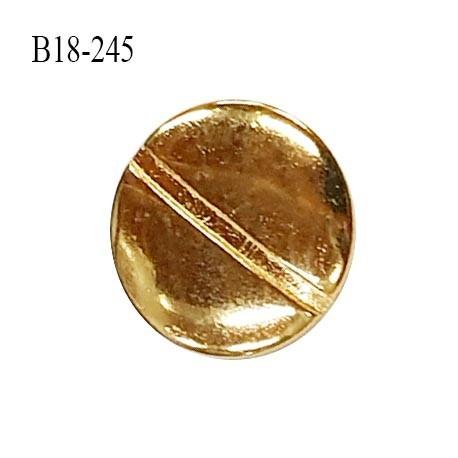 Bouton 18 mm en métal couleur doré accroche avec un anneau diamètre 18 mm épaisseur 2 mm prix à l'unité