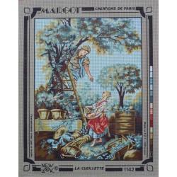 canevas 40x50 marque MARGOT DE PARIS la ceuillette  dimension 40 centimètres par 50 centimètres 100 % coton