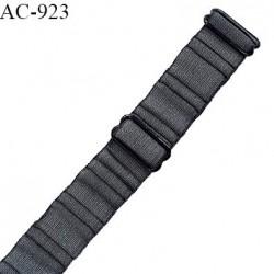 Bretelle 19 mm lingerie SG haut de gamme couleur gris platine finition avec 2 barrettes prix à la pièce