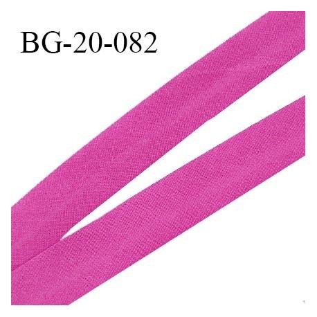 Biais galon 20 mm pré plié au dos 2 rabats de 10 mm coton polyester couleur pivoine largeur 20 mm prix au mètre