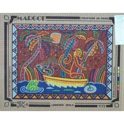 canevas 40x50 marque MARGOT DE PARIS légende mola dimension 40 centimètres par 50 centimètres 100 % coton