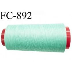 Cone 1000 m fil mousse polyamide n°120 couleur vert lagon longueur 1000 mètres  bobiné en France