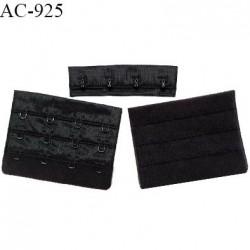Agrafe 76 mm attache SG haut de gamme couleur noir 3 rangées 4 crochets largeur 76 mm hauteur 57 mm prix à l'unité