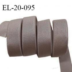 Elastique 21 mm bretelle et lingerie couleur capuccino brillant fabriqué en France prix au mètre