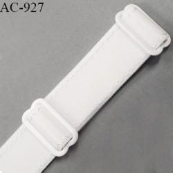 Bretelle 24 mm lingerie SG haut de gamme couleur blanc finition avec 2 barrettes prix à la pièce