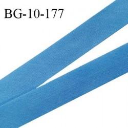 Biais galon 10 mm pré plié au dos 2 rabats de 5 mm coton polyester couleur bleu royal largeur 10 mm prix au mètre