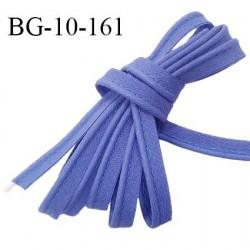 Passepoil 10 mm coton couleur bleu lavande largeur 10 mm avec cordon intérieur 2 mm prix au mètre