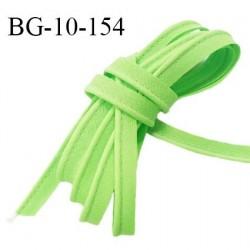 Passepoil 10 mm coton couleur vert pomme largeur 10 mm avec cordon intérieur 2 mm prix au mètre