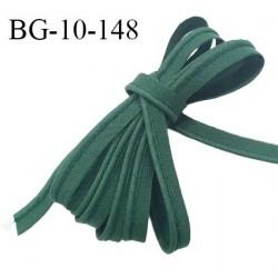 Passepoil 10 mm coton couleur vert sapin largeur 10 mm avec cordon intérieur 2 mm prix au mètre