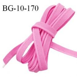 Passepoil 10 mm coton couleur rose malabar largeur 10 mm avec cordon intérieur 2 mm prix au mètre