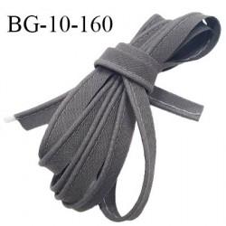 Passepoil 10 mm coton couleur gris souris largeur 10 mm avec cordon intérieur 2 mm prix au mètre