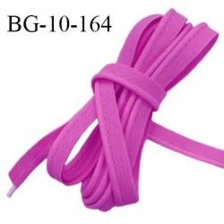 Passepoil 10 mm coton couleur violine largeur 10 mm avec cordon intérieur 2 mm prix au mètre