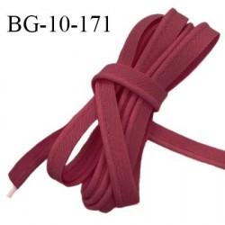 Passepoil 10 mm coton couleur rouge pourpre largeur 10 mm avec cordon intérieur 2 mm prix au mètre