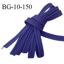 Passepoil 10 mm coton couleur bleu outremer largeur 10 mm avec cordon intérieur 2 mm prix au mètre