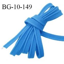 Passepoil 10 mm coton couleur bleu royal largeur 10 mm avec cordon intérieur 2 mm prix au mètre
