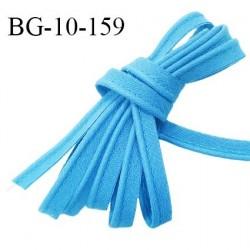Passepoil 10 mm coton couleur bleu azur largeur 10 mm avec cordon intérieur 2 mm prix au mètre