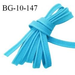 Passepoil 10 mm coton couleur bleu turquoise largeur 10 mm avec cordon intérieur 2 mm prix au mètre
