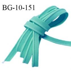 Passepoil 10 mm coton couleur vert bleu largeur 10 mm avec cordon intérieur 2 mm prix au mètre