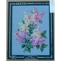 canevas 40x50 marque MARGOT DE PARIS lilas   dimension 40 centimètres par 50 centimètres 100 % coton