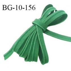 Passepoil 10 mm coton couleur vert bouteille largeur 10 mm avec cordon intérieur 2 mm prix au mètre