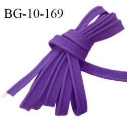 Passepoil 10 mm coton couleur violet largeur 10 mm avec cordon intérieur 2 mm prix au mètre
