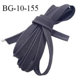 Passepoil 10 mm coton couleur gris ardoise largeur 10 mm avec cordon intérieur 2 mm prix au mètre