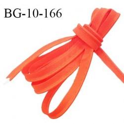 Passepoil 10 mm coton couleur orange corail largeur 10 mm avec cordon intérieur 2 mm prix au mètre