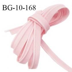 Passepoil 10 mm coton couleur rose pétale largeur 10 mm avec cordon intérieur 2 mm prix au mètre