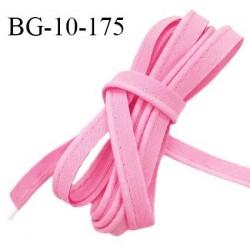 Passepoil 10 mm coton couleur rose dragée largeur 10 mm avec cordon intérieur 2 mm prix au mètre