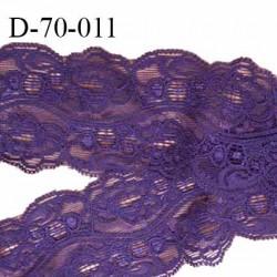 Dentelle 70 mm style ancien synthétique lycra couleur violet largeur 70 mm prix au mètre