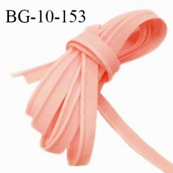 Passepoil 10 mm coton couleur rose saumon largeur 10 mm avec cordon intérieur 2 mm prix au mètre