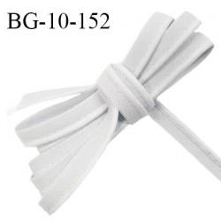 Passepoil 10 mm coton couleur gris perle largeur 10 mm avec cordon intérieur 2 mm prix au mètre