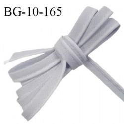 Passepoil 10 mm coton couleur gris bleuté largeur 10 mm avec cordon intérieur 2 mm prix au mètre