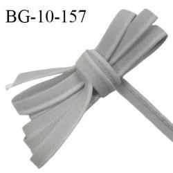 Passepoil 10 mm coton couleur gris largeur 10 mm avec cordon intérieur 2 mm prix au mètre