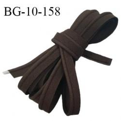 Passepoil 10 mm coton couleur café largeur 10 mm avec cordon intérieur 2 mm prix au mètre