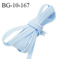 Passepoil 10 mm coton couleur bleu ciel largeur 10 mm avec cordon intérieur 2 mm prix au mètre