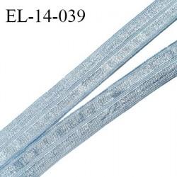Elastique lingerie 14 mm pré plié haut de gamme couleur bleu brillant largeur 14 mm prix au mètre