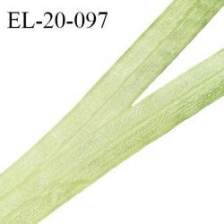 Elastique lingerie 20 mm pré plié haut de gamme couleur vert brillant largeur 20 mm prix au mètre