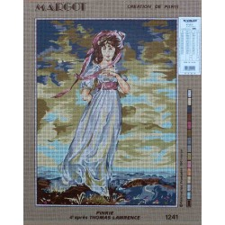 canevas 40x50 marque MARGOT DE PARIS pinkie d'après thomas laurence dimension 40 cm par 50 cm 100 % coton