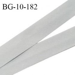 Biais galon 10 mm pré plié au dos 2 rabats de 5 mm coton polyester couleur gris bleuté largeur 10 mm prix au mètre