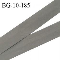 Biais galon 10 mm pré plié au dos 2 rabats de 5 mm coton polyester couleur gris souris largeur 10 mm prix au mètre
