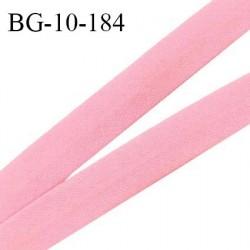 Biais galon 10 mm pré plié au dos 2 rabats de 5 mm coton polyester couleur rose dragée largeur 10 mm prix au mètre