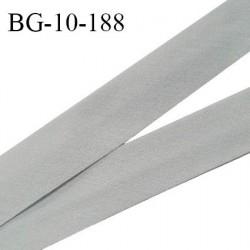 Biais galon 10 mm pré plié au dos 2 rabats de 5 mm coton polyester couleur gris largeur 10 mm prix au mètre
